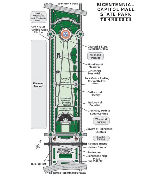 bicentennial mall map