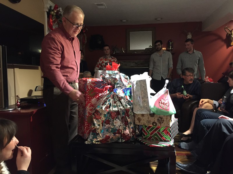 The cousin gift exchange begins with the first pick by #1