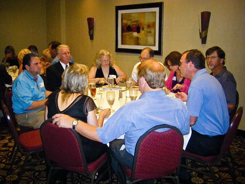 Left Background - Joe Kelliher, Tom Goeller, wife Goeller, Robert Doyle, wife Doyle, Tim Hudson, Mike Culhane Center- with backs to us - Vickie Sellman, Ed Sellman