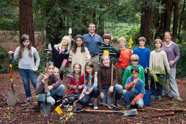 4th Grade Redwood Glen creek restoration project