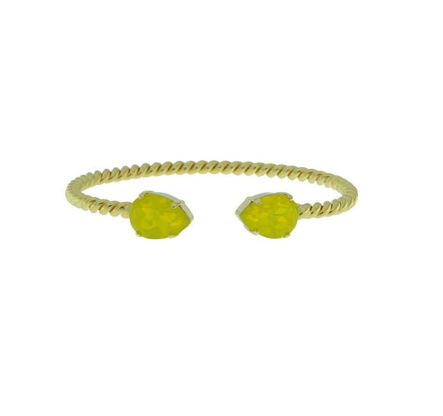 Mini Drop Bracelet / Yellow Opal
