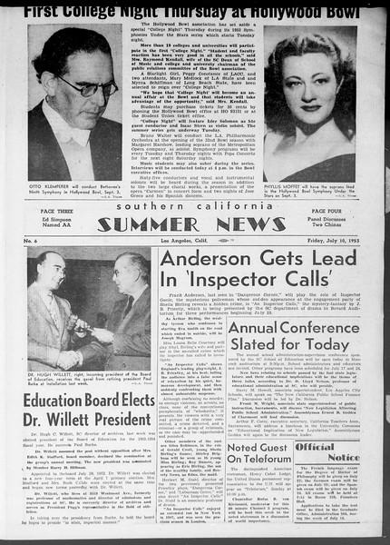 Summer News, Vol. 8, No. 6, July 10, 1953