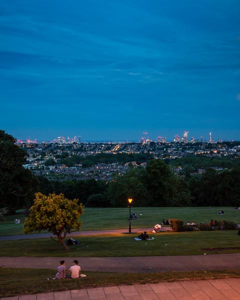 London skyline from Alexandra Park