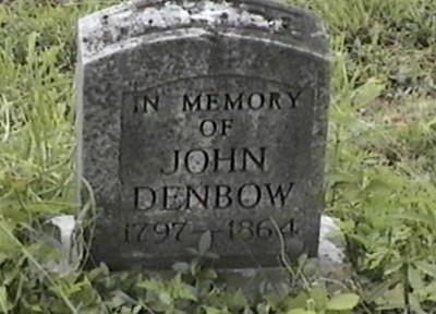 John Denbow Memorial Marker
