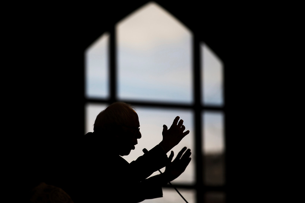 . Sen. Bernie Sanders speaks during the Rev. Martin Luther King Jr. holiday commemorative service at Ebenezer Baptist Church, Monday, Jan. 16, 2017, in Atlanta. Sanders brought the Ebenezer assembly to its feet with his reminder that the slain civil rights leader was not just an advocate for racial equality, but a radical proponent for economic justice � a mission that put him at odds with the political establishment. (AP Photo/Branden Camp)