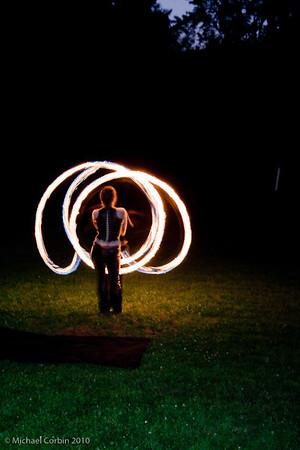flaming poi