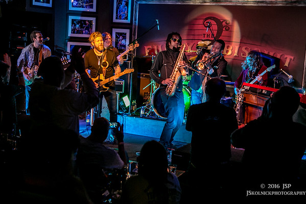 1/17/16 Devon Allman Band  with Tedeschi Trucks Band's (Horns and Kofi Burbridge) at the After Party Sunshine Music Fest at the Funky Biscuit