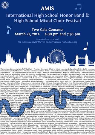 2014 International High School Honor Band And High School Mixed Choir Festival