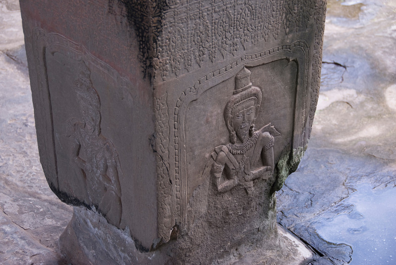 Closer look on base of pillar at Angkor Wat