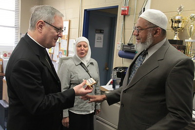 Bishop Tobin visits the Islamic School