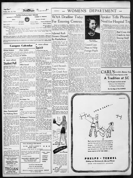 Daily Trojan, Vol. 38, No. 25, October 18, 1946