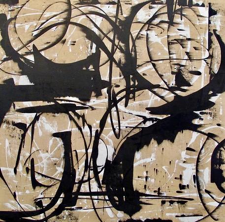 Tan Looping-Iorillo, 50x50 on canvas