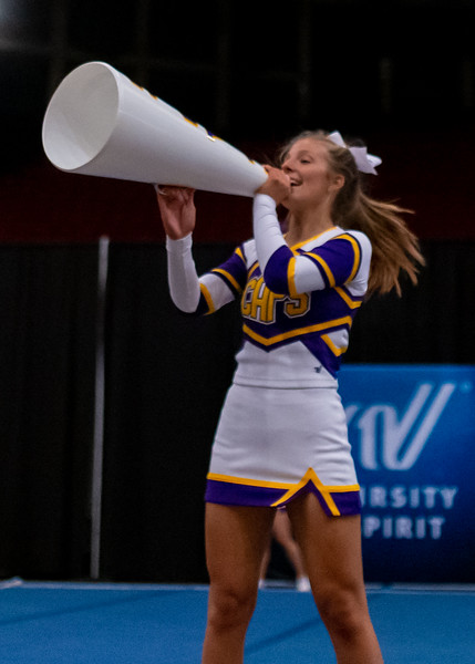 Broughton cheerleading Pre-States. November 16, 2019. D4S_1745