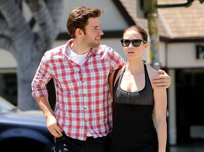 EXC: John Krasinski Wraps Arm Round Wife Emily Blunt