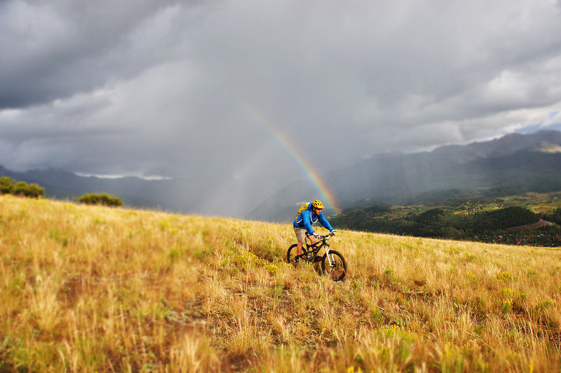 A mountain biker near Telluride Colorado