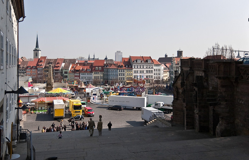 Erfurt vom Domberg nach Osten