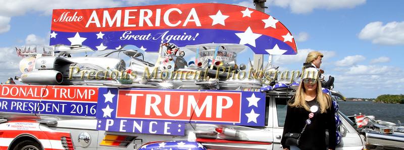 Mar A Lago - Bingham Island Street Rally Miami Trump Volunteers & Blacks For Trump Band - February 4th, 2017