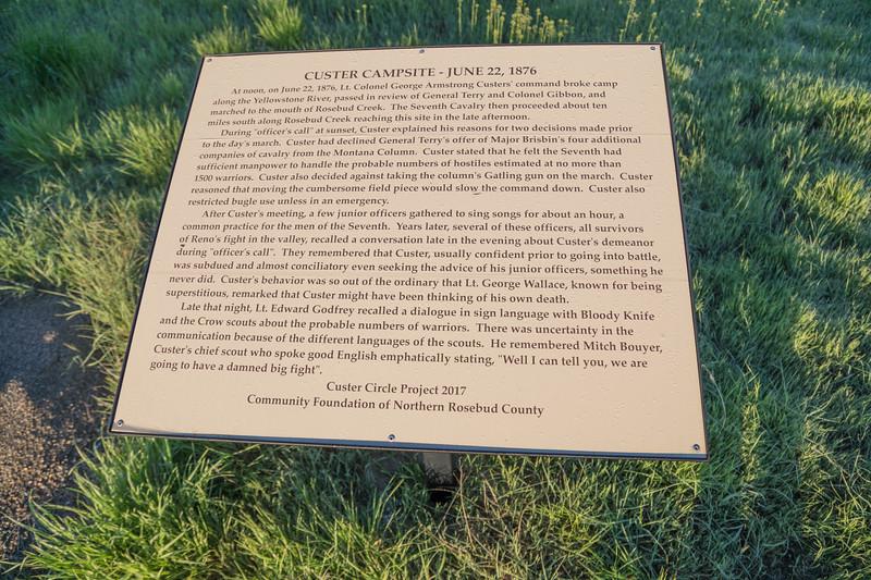 Custer Campsite Site 5