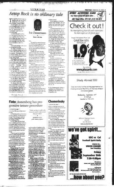 Daily Trojan, Vol. 150, No. 21, September 24, 2003