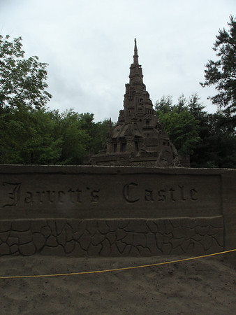 Farmington CT World's record sand castle