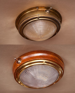 Old cabin lights (top) and new cabin lights (bottom).