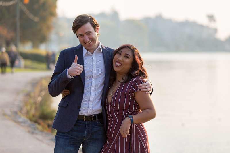 Janne & Chris Engagement in Oakland