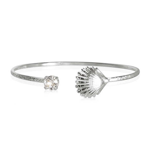 Shell Bracelet / Crystal Rhodium