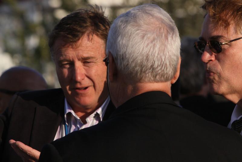 """(L-R) Chris Hancock, CEO, AARnet Pty Ltd; Rick LeFaivre, Venture Partner, OVP Venture Partners; and Larry Smarr, Director, Calit2 (the """"FiRe Lab""""), UCSD"""