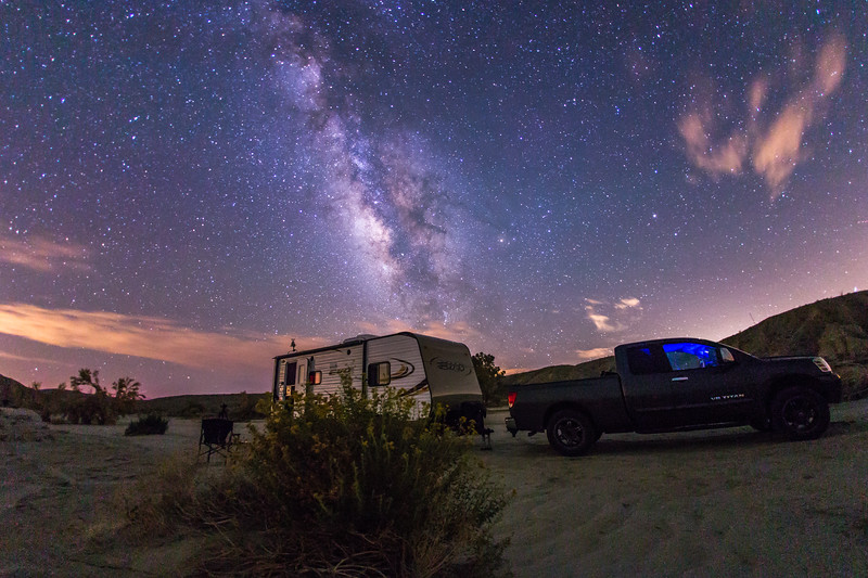 Camping under the stars in southern Anza-Borrego Desert State Park