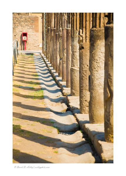Columns, Pompeii, Italy