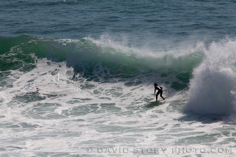 Surfing. Praia Ribeira D'Ilhas, Ericeira, Portugal.