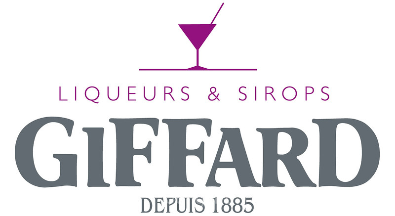 Giffard Liqueurs & Sirops white background .jpg logo Rosa C50 M100 J0 N0 or 253C pantone;  Grey C15 M0 J0 N70 or 7545C pantone