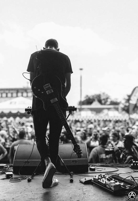 Alex Babinski of PVRIS live at Vans Warped Tour 2015 by Adam Elmakias