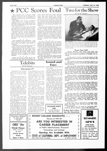 Summer News, Vol. 11, No. 6, July 12, 1956
