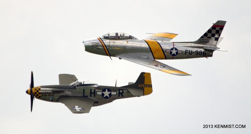 P-51 Mustang and F-86 Sabre
