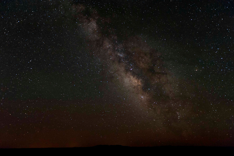 Left the house at just after 2 am in search of the Milky Way.  Success!!!  We learned much, laughed lots, and we all have some fabulous images.  Taken at Deadhorse Point State Park; balmiest night I've ever spent in the desert - shirtsleeves until the sun came up and brought the breezes.