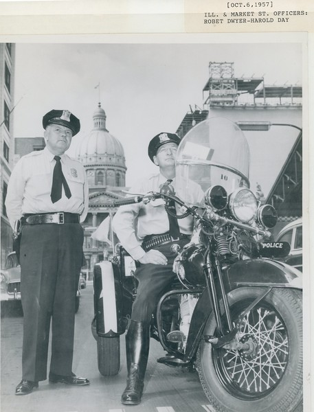 Oct 6 1957 Ill & market St RObert Dwyer and Harold Day