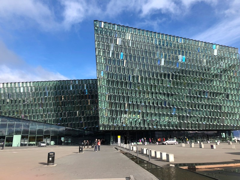 Harpa - music and concert hall in Reykjavik