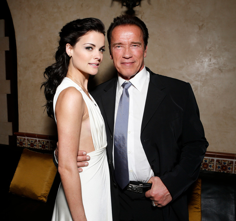 ". Jaimie Alexander and Arnold Schwarzenegger attend the after party for the LA premiere of ""The Last Stand\"" at Grauman\'s Chinese Theatre on Monday, Jan. 14, 2013, in Los Angeles. (Photo by Todd Williamson/Invision/AP)"