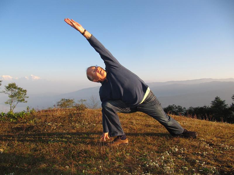 Peter yoga at sunrise.JPG
