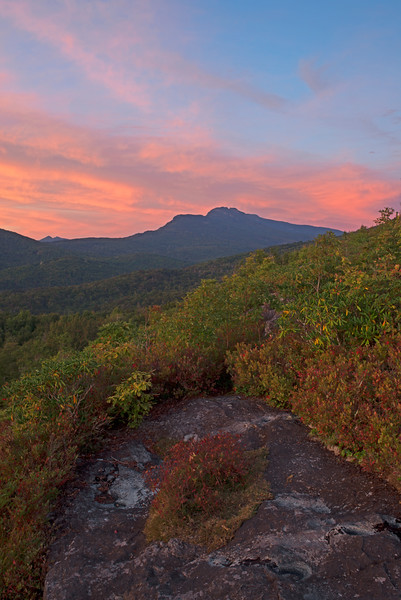 Sunset over Grandfather From Flat Rock