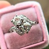 1.99ctw Vintage Old Mine Cut Bypass Ring 6