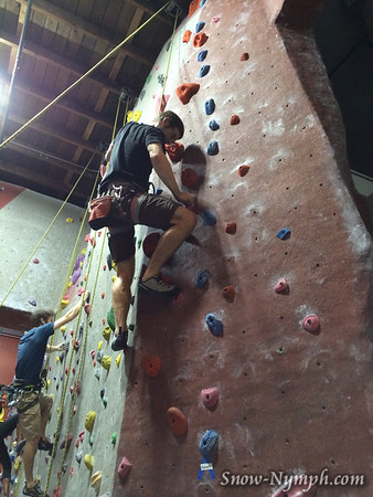 2014 (Mar 14) Santa Barbara Rock Gym (first time)