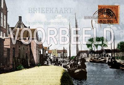 De Kaai van Sommelsdijk met teksten uit de gemeentelijke verordening van 1903 op canvas geprint Zowel verkoop als verhuur. Basisformaat is 60x90 cm € 250,00 verkoop.  Via de kunstuitleen € 275,00 te huur vanaf 12,50 euro per maand.