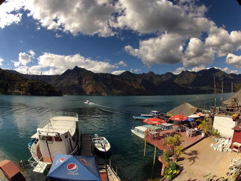 January 18, 2013 - Cafe Campesino led a group of travelers around Guatemala to learn more about fair-trade coffee and other cooperative efforts in the region. Pictured here is Lake Atitlan in Guatemala.