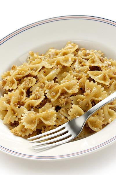 kasha varnishkes, buckwheat and bow-tie pasta, a traditional jewish dish