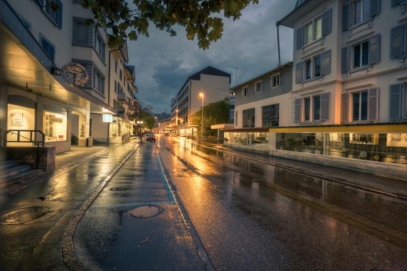 A wet evening in Goldau/Switzerland
