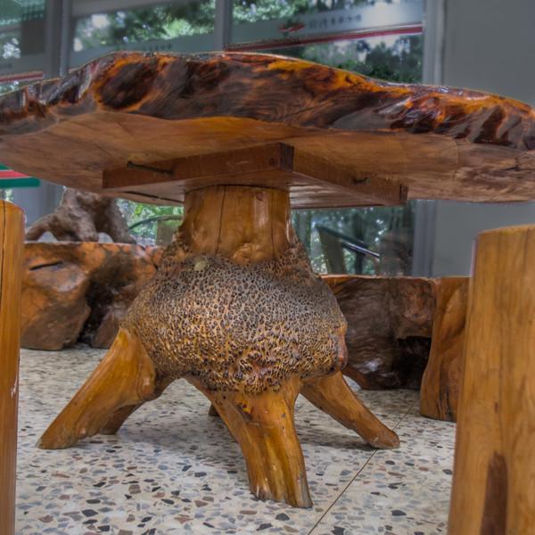 Coffee shop burl table