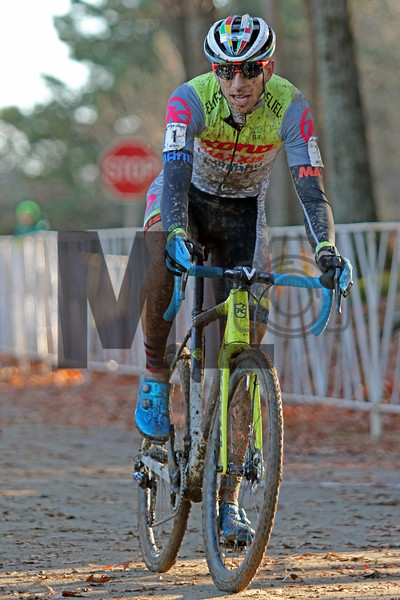 Kerry Werner (1) competes in the NC Cyclocross North Carolina Grand Prix at Jackson Park in Hendersonville, N.C., on Nov. 24, 2019