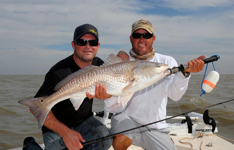 Chris Wilson and Adam Paul GillzNfinz Redfish 10 2009.jpg
